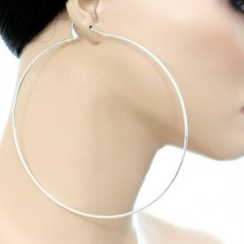 Super Large Clip On Hoop Earrings